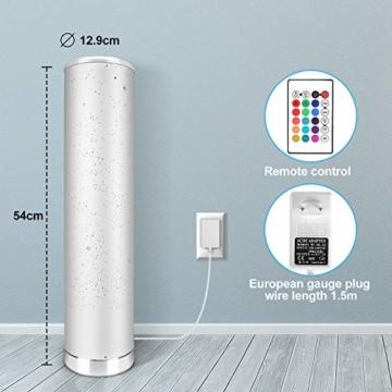 LED Stehlampe Dimmbar mit Fernbedienung für Wohnzimmer Farbwechsel Lichtsaeule LED RGB Stehleuchte Gaming Deko, 5 Watt, 54CM Höhe - 5