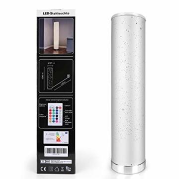 LED Stehlampe Dimmbar mit Fernbedienung für Wohnzimmer Farbwechsel Lichtsaeule LED RGB Stehleuchte Gaming Deko, 5 Watt, 54CM Höhe - 7