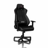 NITRO CONCEPTS S300 EX Gamingstuhl - Ergonomischer Bürostuhl Schreibtischstuhl Chefsessel Bürostuhl Pc Stuhl Gaming Sessel PU Kunstleder Belastbarkeit 135 Kilogramm - Carbon Black (Schwarz) - 1