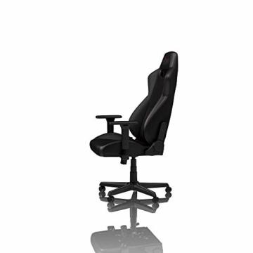 NITRO CONCEPTS S300 EX Gamingstuhl - Ergonomischer Bürostuhl Schreibtischstuhl Chefsessel Bürostuhl Pc Stuhl Gaming Sessel PU Kunstleder Belastbarkeit 135 Kilogramm - Carbon Black (Schwarz) - 8