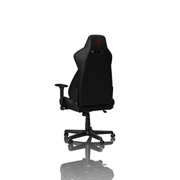 NITRO CONCEPTS S300 EX Gamingstuhl - Ergonomischer Bürostuhl Schreibtischstuhl Chefsessel Bürostuhl Pc Stuhl Gaming Sessel PU Kunstleder Belastbarkeit 135 Kilogramm - Carbon Black (Schwarz) - 9