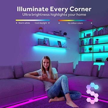 Sechseckige LED Wandleuchten mit Fernbedienung,Intelligente LED Lichtplatten RGB Gaming Lampe Touch-Steuerung Stimmungsbeleuchtung DIY Geometrie Spleißen Quantum Leuchte für Gaming/Party Deko,10 Stück - 9