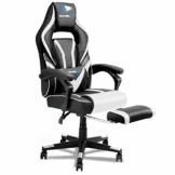 SOUTHERN WOLF Gaming Stuhl mit Fußstützen, Ergonomischer Gamingstuhl mit hoher Rückenlehne, Computerstuhl, Racing Chair, gepolsterter Sitz, Verstellbarer Arbeitsstuhl Gas Lift ist SGS-geprüft - 1