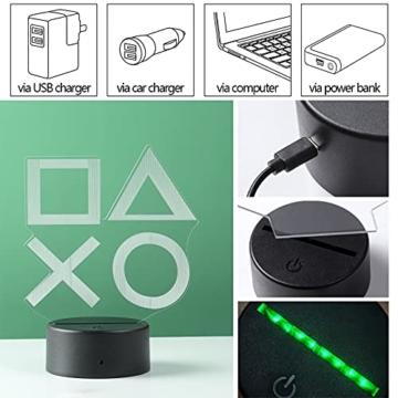 ZWOOS Gaming Lampe – Illusion Nachtlicht - PS Lamp mit Fernbedienung - 16 Farben - 4 Beleuchtungsmodi - Gaming Dekoration - 5