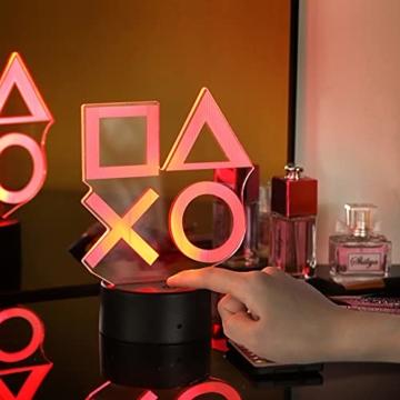 ZWOOS Gaming Lampe – Illusion Nachtlicht - PS Lamp mit Fernbedienung - 16 Farben - 4 Beleuchtungsmodi - Gaming Dekoration - 6