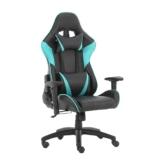 Futurefurniture®Gaming Stuhl,gamingstuhl,Gaming Sessel,Gaming Chair,mit Kopfstütze und Lendenkissen,Farbe:Blau - 1