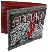 Miami Ink,Dragon Denim Klappbar, Geldbeutel - 1